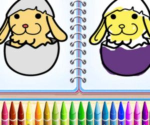 COLORING BUNNY BOOK