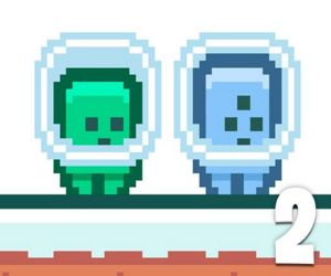 Green And Blue Cuteman 2